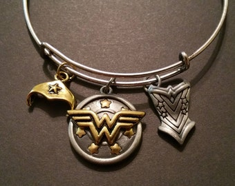 Wonder Woman charm bangle