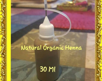 Ready-to-use 100% Natural Organic Henna with Needle tip Applicator Bottle