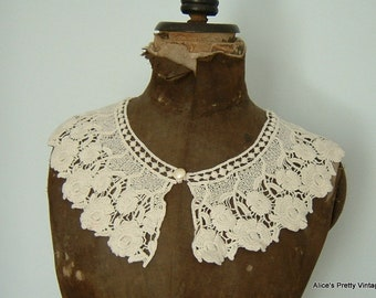 Lovely Antique Lace Collar Perfect for Re purpose/Study/Lace Collection