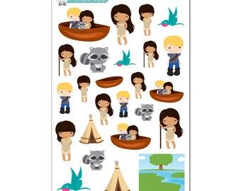 Pocahontas Stickers - Disney Planner Stickers