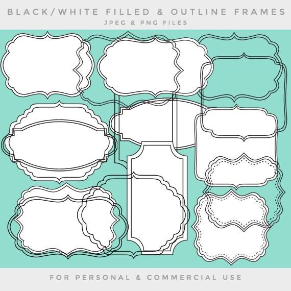Cuadros de arte clip marco clip arte negro blanco Marcos