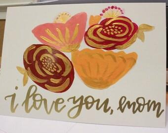 Love You Mom - Valentine's Day Card