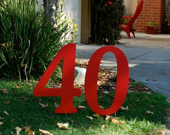 Party Decor Outdoor Numbers