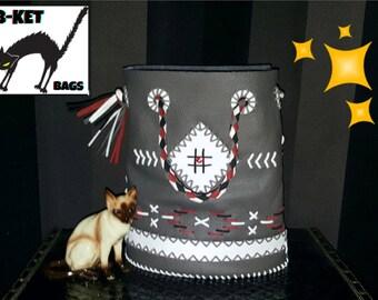 chimayo leather handmade repro vintage bag * rockabilly