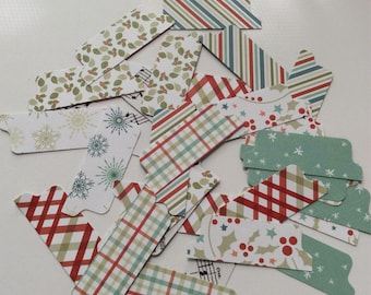 Upcycled Card Stock File Tabs-Set of 32 Pieces