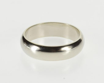 14K 4.7mm Wide Simple Design Classic Wedding Band Ring Size 4.75 White Gold