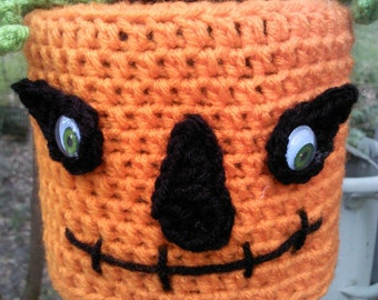 bathroom,toilet paper cover,pumpkin toilet paper cover,crochet toilet paper cover