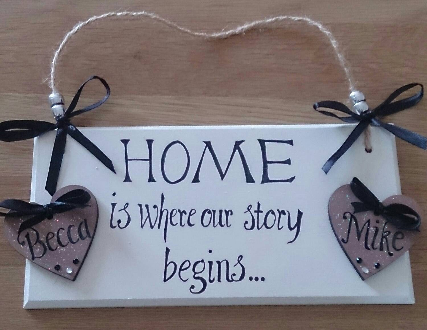 Love Plaques Quotes Personalised Wall Plaque For The Homemaybe New Home