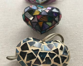 Heart Stained Glass Necklace//Mexican Necklaces//Trendy//Jewelry//Pendant Necklace