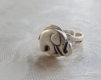 Elephant Ring, Adjustable Ring, Pachyderm, Gift