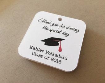 Personalized Graduation Favor Tags, Graduation tags,Party Favor tags