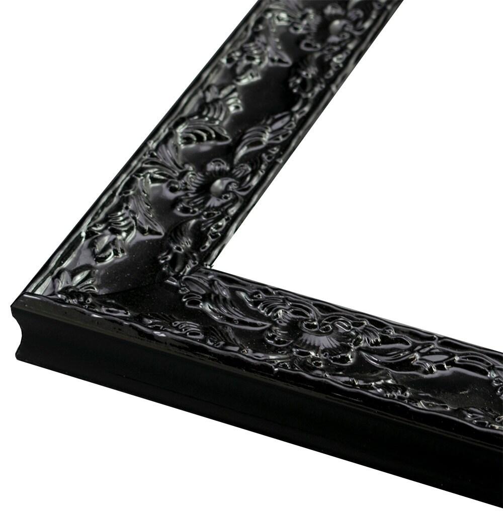 Renaissance Black Gloss Ornate Black Frame 1 3/4\