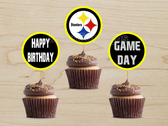 pittsburgh steelers cupcake toppers pittsburgh steelers