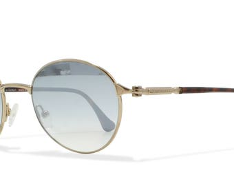 Burberrys B8781 TB4 Gold , Brown Vintage Sunglasses Round For Men and Women