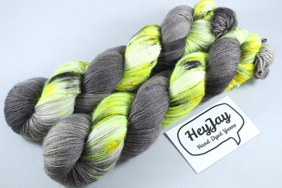 Hand Dyed Ultimate Sock Yarn, BFL High Twist - Zombie Apocalypse