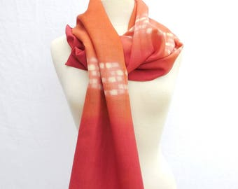 Scarf wool Bunting Orange and Red
