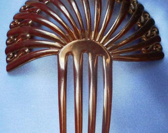 Opulent Vintage Early 1900's Art Nouveau Hair Comb