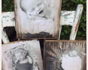 Your Photo Transformed into Rustic Wood Art!