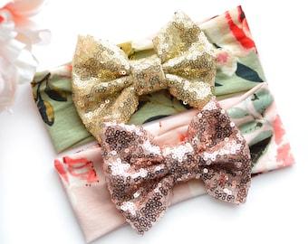 Floral Sparkle Bow