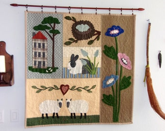 Spring --  Seasonal Quilted Wall Hanging