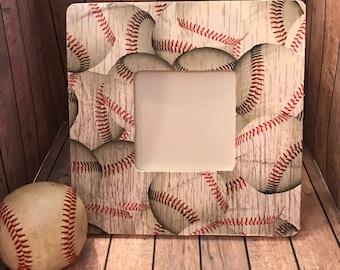 Baseball Picture Frame, Baseball Gift, Baseball Player Gift, Baseball frame, Baseball Team Gift