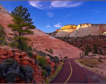 Zion National Park - Red road - Color Photo Print - Fine Art Landscape Photography (SW03)
