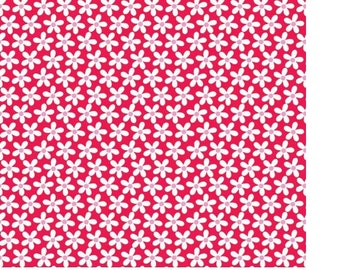 Riley Blake Sweetcakes red floral fabric by the yard riley blake red fabric floral fabric C3143