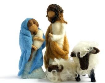 Needle Felted Nativity Set/Nativity Scene Set/Kids Nativity Set/Children's Nativity Set/Waldorf Nativity Set/Kids Nativity Set/Creche