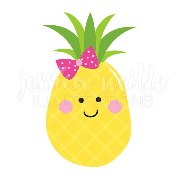 pineapple cutie cute digital clipart pineapple clip art rh etsy com clip art pineapple upside cake clipart pineapple with face