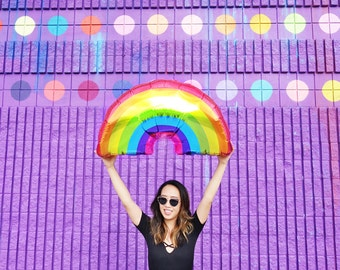 Rainbow Balloon - Foil Mylar Jumbo Party Decoration