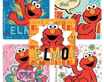 "25 Elmo (Sesame Street) Stickers, 2.5"" x 2.5"" Each"