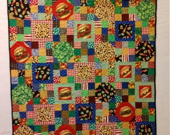 Burger and Fries Quilt