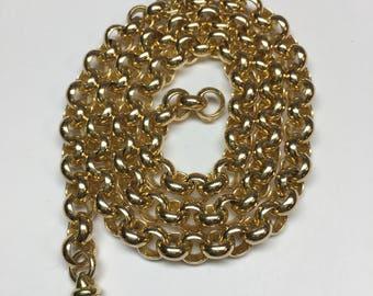 "14 karat yellow gold rolo 20"" chain"