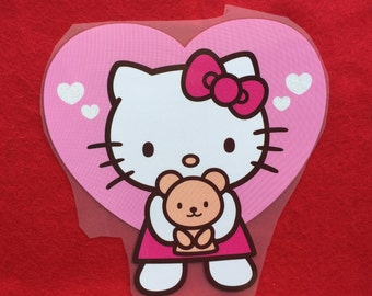 Hello Kitty Iron-On Heat Transfer ~~Decorate all the clothing ,bags or other fabrics.
