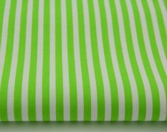 100% cotton fabric piece 160 x 50 cm, textile printing, cotton 100% 5mm light green stripes