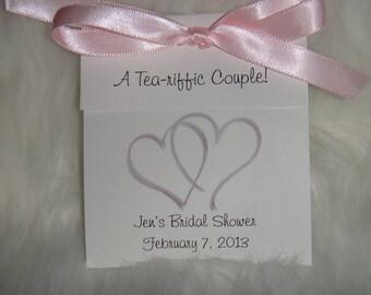 Two Hearts Tea Bag Bridal Shower Wedding Party Favors