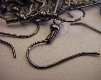 100 - Gun Metal  - Earring Hooks (ABEH)