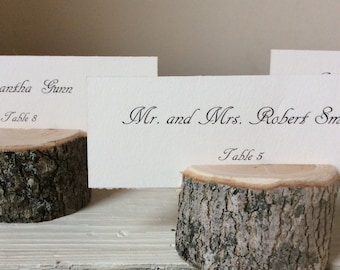 Escort Card Name Card Holders - Rustic Chic - Wedding  - Woodland Variety - Set of 20