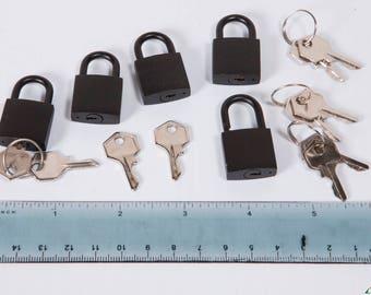 Set of 5 Decorative Black Locks
