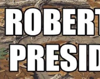 Duck Dynasty  Phil Robertson For President   Bumper Sticker   Travel Decal sticker