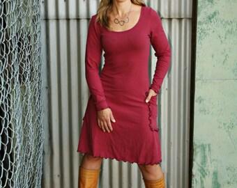FLASH SALE - Organic Clothing - Hemp Long Sleeve Elven Pocket Dress