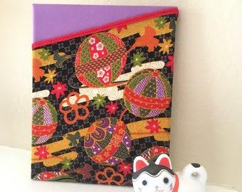 Purple fabric panel