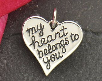 My Heart Belongs to You Charm