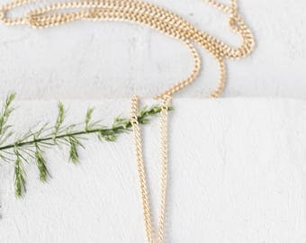 Tiny Hanabi Necklace, gold silver plated minimalist pendant charm fern jewelry,  girls children kids jewelry