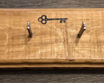 Solid Oak and Cut nail key holder