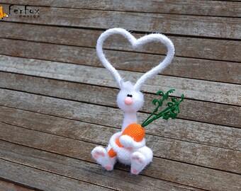 White bunny OOAK doll Plush bunny rabbit Stuffed bunny art toy Easter gift Girlfriend gift Easter decor Stuffed animals Plush white rabbit