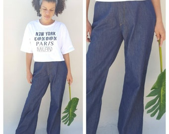70s Jeans / High waisted jeans  / Flare Jeans