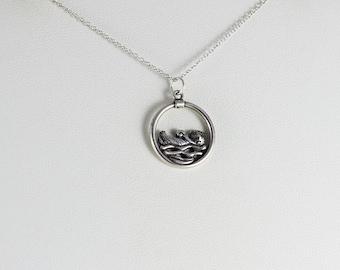 Sterling Silver Otter Pendant