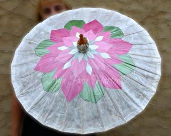 Parasol Pink Lotus Flower Parasol