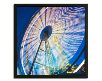 "Fine Art Photography ""Ferris Wheel"" Framed Stretched Canvas"